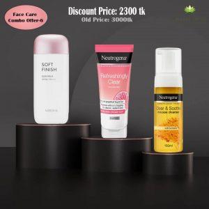 Neutrogena Clear & Soothe Cleanser+ Neutrogena Refreshing Clear Moisturiser+ Missha Soft Finish Sunscreen Combo Offer