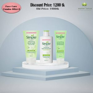Simple refreshing face wash +Simple light moisturiser+ Simple Smoothing Scrub Combo Offer