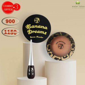 W7 Banana Loose powder + W7 Bronzer+ W7 Eyeliner Combo Pack Offer